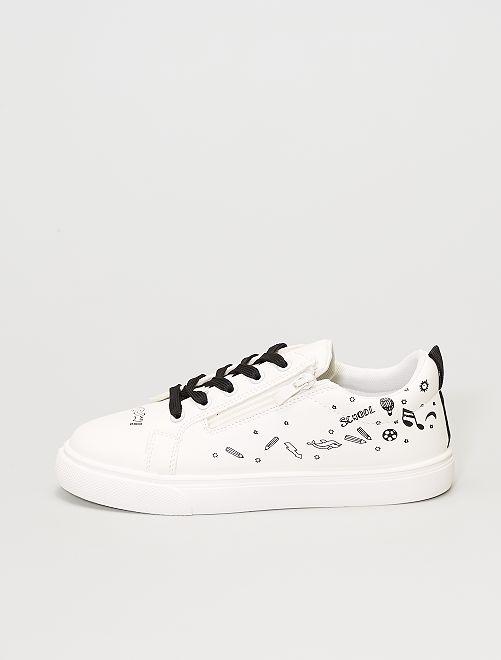 Zapatillas estampadas                             blanco