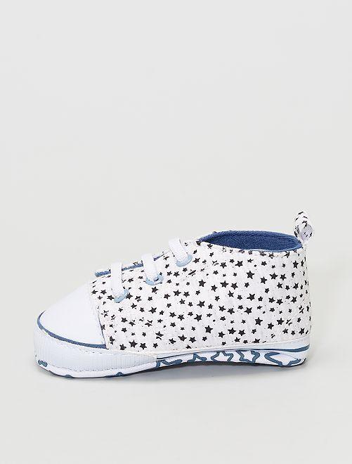 Zapatillas estampadas                                                     gris claro