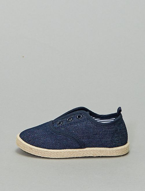 Zapatillas estilo alpargatas                             azul navy