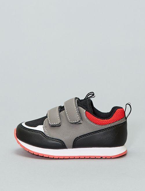 Zapatillas estilo deportivo                                         gris/negro/rojo Bebé niño