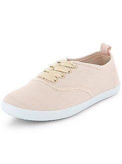 Zapatillas lisas de tela