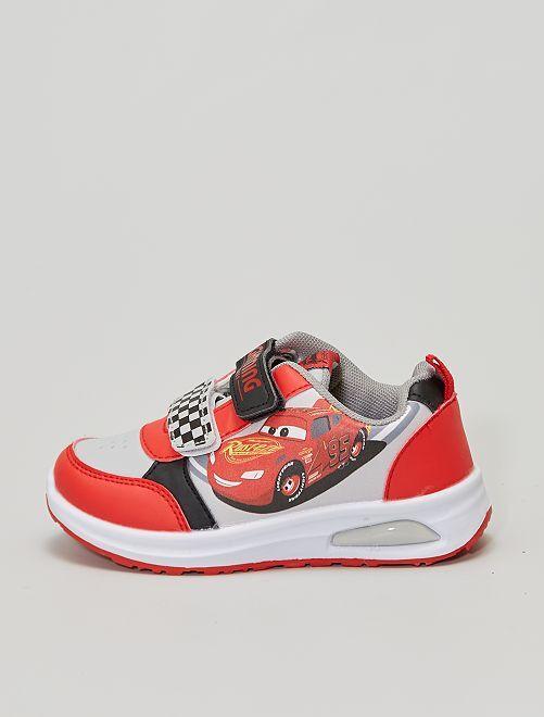 Zapatillas luminosas con velcros 'Cars'                             rojo
