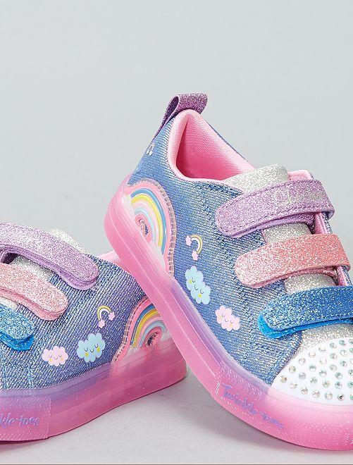 Zapatillas luminosas Skechers                             NEGRO Chica