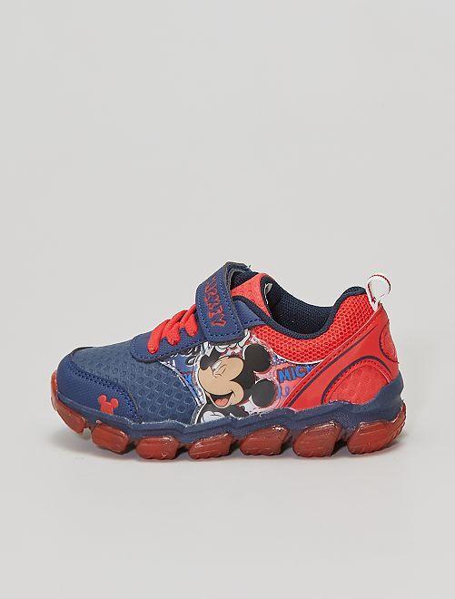 Zapatillas 'Mickey' suela luminosa                             azul