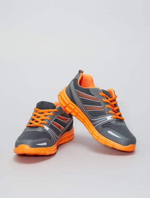 Zapatillas multideporte de malla                             GRIS Zapatos