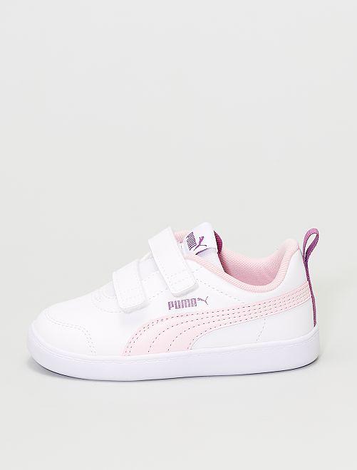Zapatillas 'Puma Courtflex v2 V Inf'                             blanco/rosa