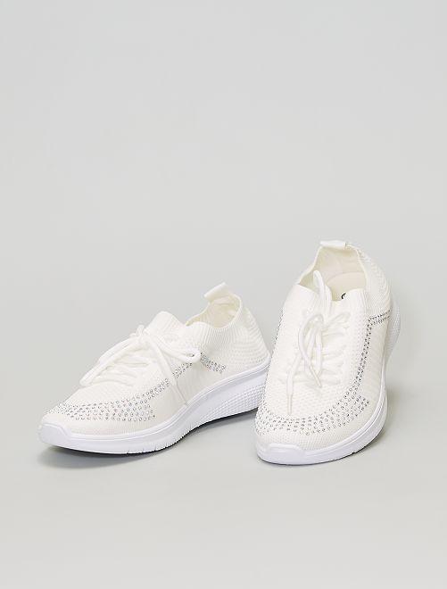 Zapatillas sin cierre de malla                             blanco