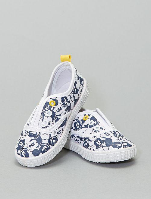 Zapatillas sin cordones de tela 'Mickey Mouse'                             blanco