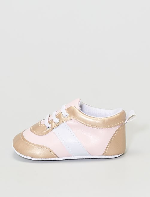 zapatillas sintéticas                                         ROSA/dorado
