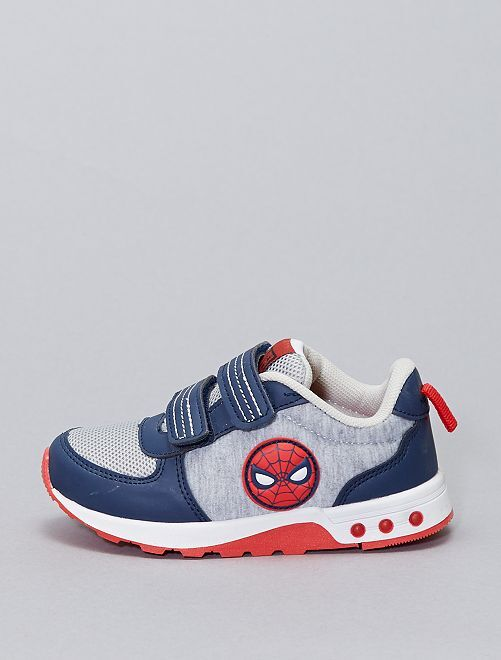Zapatillas 'Spider-Man' 'Marvel' con suela luminosa                             gris
