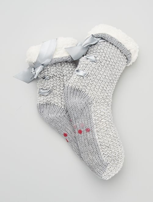 Zapatillas tipo calcetines antideslizantes                                                     gris