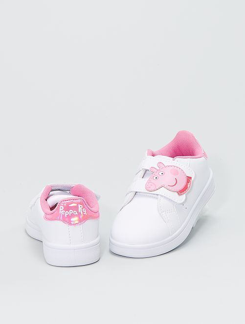 Zapatillas velcro 'Peppa Pig'                             blanco