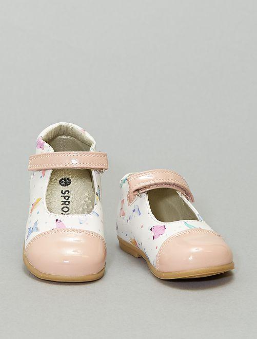 Zapatos de bebé abotinados 'mariposas'                             BEIGE