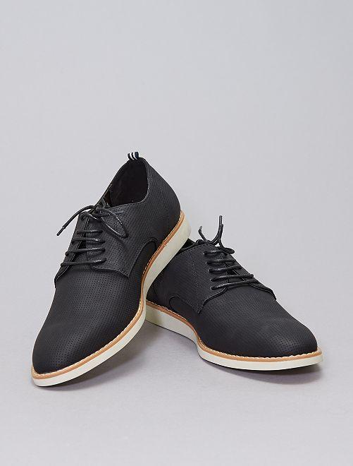 Zapatos de material sintético texturizado                             negro