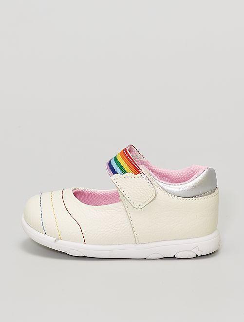 Zapatos de piel                             plata
