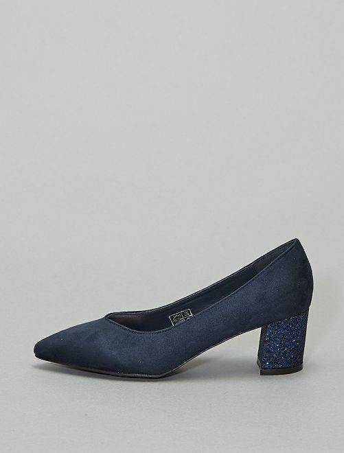 Zapatos de tacón brillantes                             azul navy