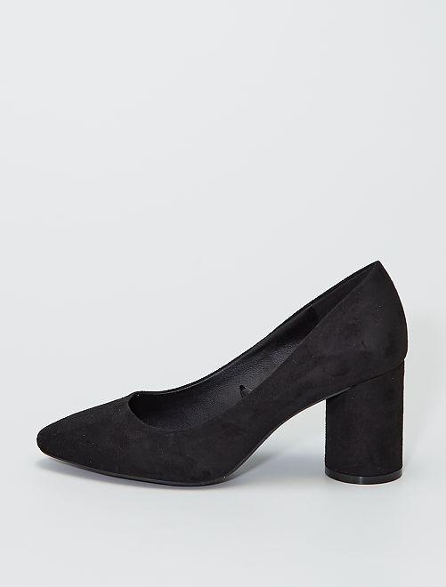 Zapatos de tacón de antelina                                         negro