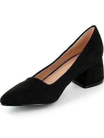 Zapatos de tacón de antelina - Kiabi