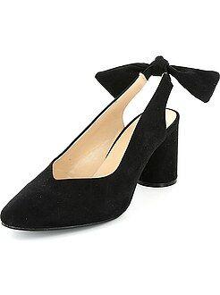 Mujer - Zapatos de tacón de antelina - Kiabi