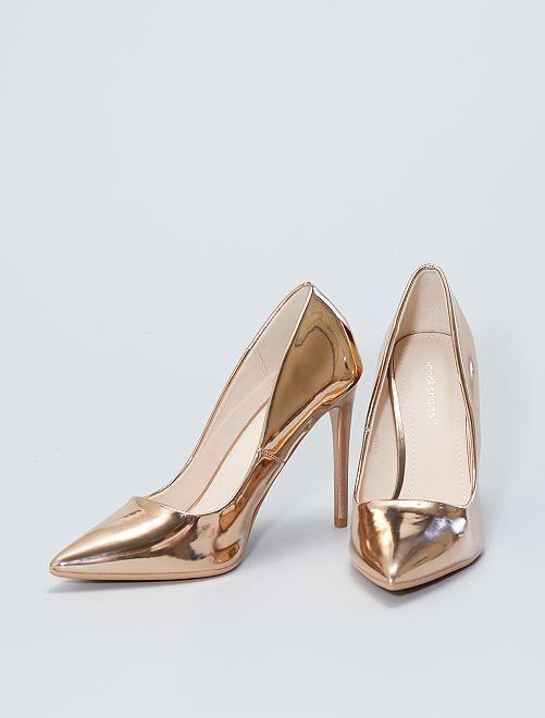 Zapatos de tacón de charol                             beige oscuro