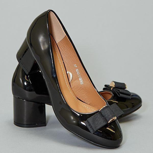 distribuidor mayorista ab4b0 3c239 Zapatos de tacón de charol Mujer talla 34 a 48 - negro ...