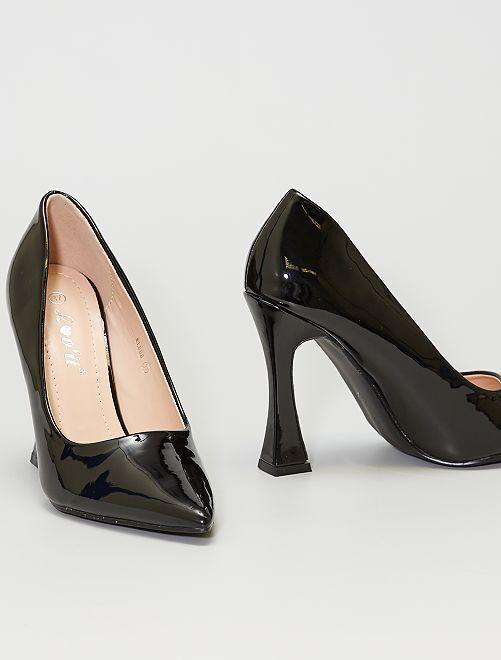 Zapatos de tacón de charol                                         NEGRO