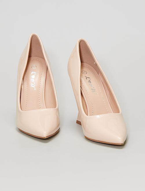 Zapatos de tacón de charol                                         rosa