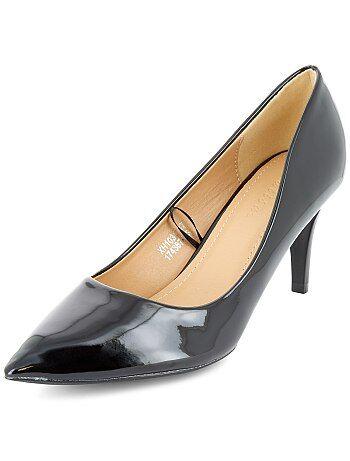 Zapatos de tacón de piel sintética - Kiabi