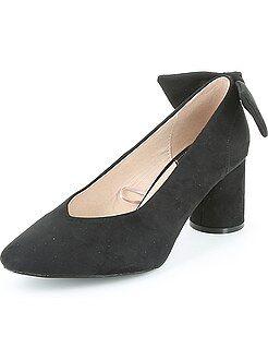 Zapatos de tacón - Zapatos de tacón redondos de antelina