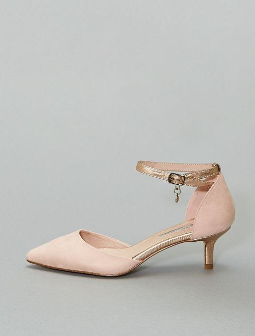 Zapatos de tacón semiabiertos 'Xti'                             beige