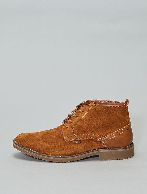 Zapatos de vestir altos de piel 'XTI'                             camello