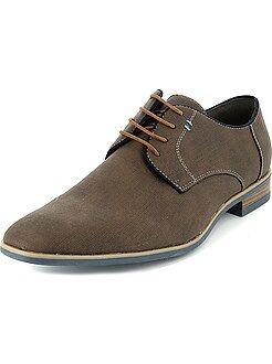 Zapatos de vestir de piel sintética efecto trenzado - Kiabi