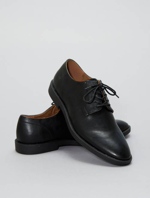 Zapatos de vestir de piel sintética                     negro