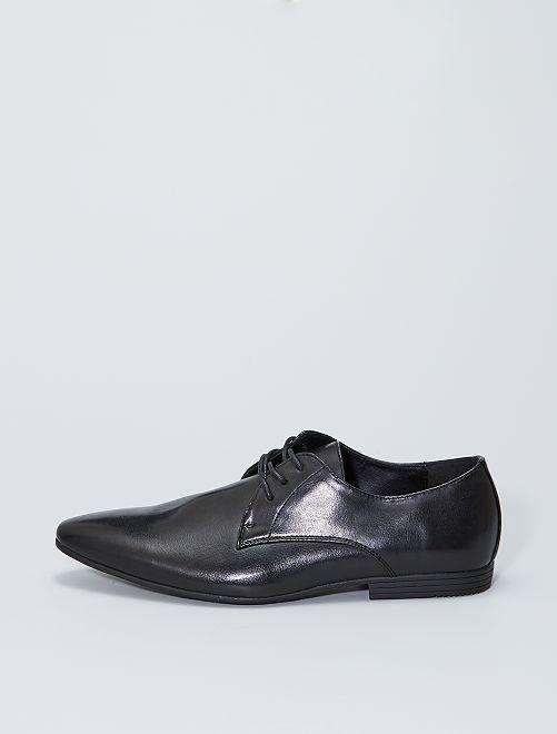 Zapatos de vestir sintéticos                             negro