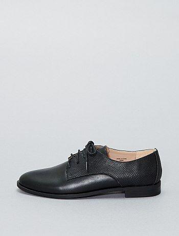 Zapatos derby con textura - Kiabi