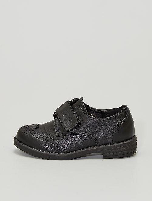 Zapatos derby con velcros                             NEGRO