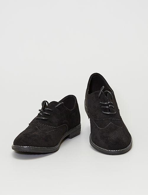 Zapatos derby de antelina                             negro