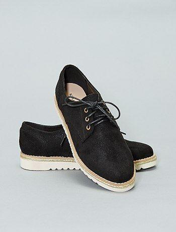 Zapatos derby de dos materiales - Kiabi 242460f3ae28