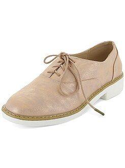 Zapatos derby de piel sintética irisada