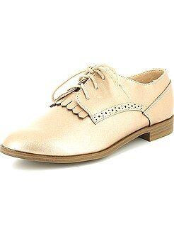Zapatos derby de piel sintética